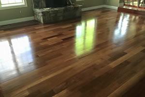 Cherry hardwood flooring installation Manhattan KS